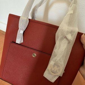 Brand New Michael Koris Red Handbag